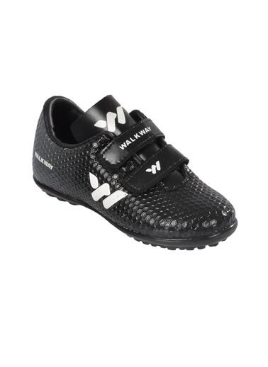 Walkway 023 Kırmızı Çocuk Halı Saha Ayakkabısı Siyah